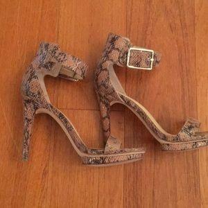 Calvin Klein snakeskin heels